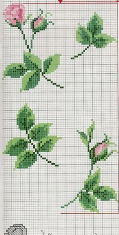 ru / Foto # 34 - A - Giasemi Cross Stitch Borders, Cross Stitch Rose, Cross Stitch Flowers, Modern Cross Stitch, Cross Stitch Charts, Cross Stitching, Cross Stitch Embroidery, Embroidery Patterns, Cross Stitch Patterns