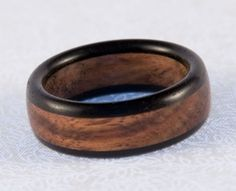 Ebony Chechen Wood Ring by bcrdesigns on Etsy, $ 40