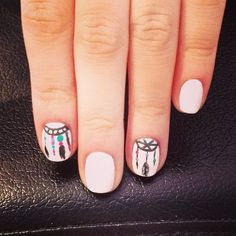 dream catcher bohemian nails