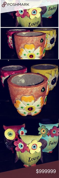 FREE GIFT WITH PURCHASE 1 owl or planter with purchase. Other