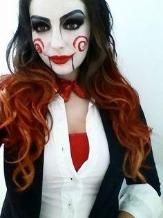 Jigsaw Halloween Makeup and Costume