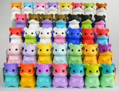 Iwako Japanese Erasers Animal Hamster Giraffe Cat Dino Wildlife
