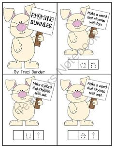 FREE Rhyming Bunnies Freebie from The Bender Bunch on TeachersNotebook.com -  (6 pages)  - Easter Rhyming