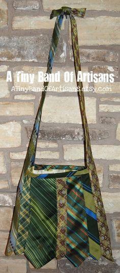 Jean Green Vintage Necktie Purse | ATinyBandOfArtisans.etsy.com