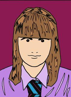 Julian Opie Self Portrait! (Miss Allen's 2012/13 Year 9 Class)