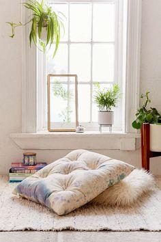 Hanna Drop Cloth Floor Pillow - Urban Outfitters