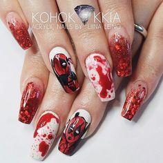 Deadpool nails!!