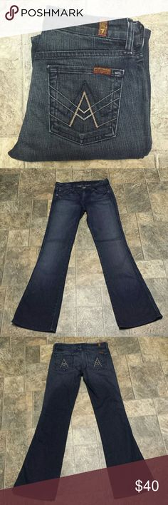 "7 For All Mankind ""A"" Pocket Jeans Size 25. Inseam 31 in. Rise 7 1/2 in. ""A"" pocket style / Bootcut. In excellent condition! 7 For All Mankind Jeans Boot Cut"