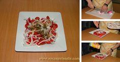insalata di pomodori datterini, cipolle rosse di tropea e capperi