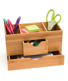 Lipper International Bamboo Three-Tier Desk Organizer | zulily