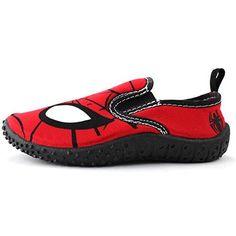 Aqua Socks, Water Shoes, Spiderman, Superhero, Boys, Sneakers, Red, Fashion, Spider Man