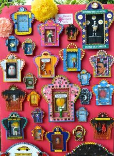 Dig the Mexican altar boxes. Dead kitsch cool - from Mexico Import Arts (Australia) Shrines? Mexican Colors, Mexico Art, Deco Boheme, Mexican Folk Art, Mexican Crafts, Religious Art, Altered Art, Art Lessons, Art Projects