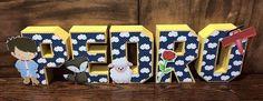 Lindas letras 3D para decorar sua festa!! <br> <br>Fazemos em qualquer tema e cores!!