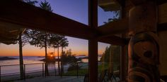 Luxurious accommodations, one or two bedrooms in self-contained, beachfront timber frame lodges with fireplaces, modern kitchens, spectacular ocean views. Summer Travel, Pacific Northwest, Lodges, Tourism, Coast, Canada, Adventure, Luxury, Places