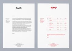 Logo and Identity for Kode Media by Bunch The Effective Pictures We Offer You About cafe Invoice Design, Letterhead Design, Stationary Design, Identity Design, Book Design, Corporate Design, Corporate Identity, Typography Layout, Visual Identity
