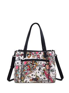 The new Large Convertible Satchel is perfect to keep you organized with multiple compartments. Wear it as a satchel, over the shoulder or as a crossbody!