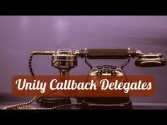 - Using Delegates / Actions as Callbacks in Coroutines I Am Game, Unity, Action, Learning, Youtube, Group Action, Studying, Teaching, Youtubers