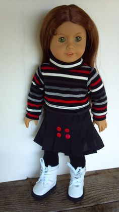 American Girl 18 Doll Clothes Black and by sewsweetdollboutique, $18.00
