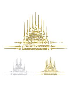 YANT KAO YOD.- Temporary yant tattoo representing Budda´s holiness. Protects wearer from hazards and weapons.