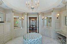 Master bath powder room in luxury home