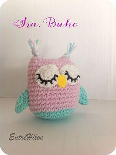 Owl Crochet Patterns, Crochet Owls, Owl Patterns, Crochet Animals, Crocheted Hats, Macrame Owl, Baby Rattle, Stuffed Toys Patterns, Handmade Toys