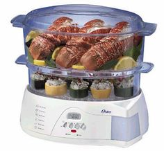 Oster 5712 Electronic 2-Tier 6-Quart Food Steamer, White for $39.99