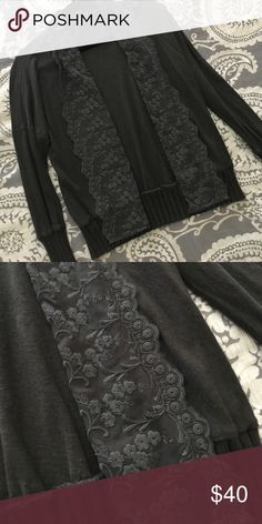 anthropologie green eyelet cardigan Washed and worn once. Perfect for fall! Excellent condition. Anthropologie Sweaters Cardigans