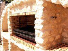 Installation grille en barbecue en pierre
