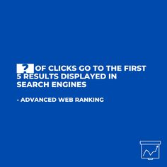 The percentage of clicks that go to the first 5 results displayed in search engines. Click And Go, First 5, Customer Experience, Statistics, Search Engine, The One, Digital Marketing, Improve Yourself, Believe