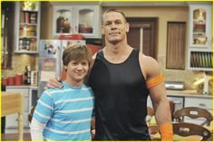 "John Cena and Jason Earles on Hannah Montana ""Love That Let's Go"" Episode Kanye West Picture, Jason Earles, Lois Griffin, Disney Shows, Debby Ryan, Hannah Montana, John Cena, Disney Channel, Miley Cyrus"