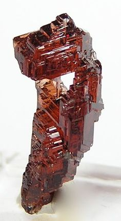 Red Spessartine Garnet Natural Etched Crystal 55 by FenderMinerals,