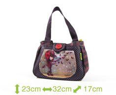 Boîte à lunch Ketto, style sac à main - fille coccinelle / Ketto's lunch bag, handbag style - ladybug girl * Fabriqué à 80% de bouteilles de plastique recyclées / Made of 80% of recycled plastic bottles * www.kettodesign.com