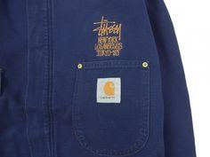 -vintage stussy-の中でも特にレアで今もなお人気のCARHARTTボディーを使用したジャケット。