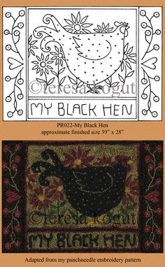 My Black Hen rug pattern by teresa_kogut, via Flickr