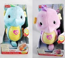New Fisher Price Soothe & Glow Seahorse. Our FAVORITE soothing toy for our little man! Lays down every time he sees it!