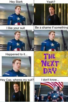 Lol!! Captain America and Iron Man