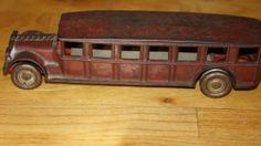Antique Toy Truck Cast Iron Red origional