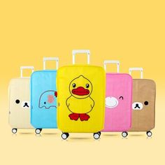 20inch to 28 inch Cartoon animal printed thicker Non-woven Fabric Suitcase protector Luggage dust cover 5 colors for travel use #Affiliate