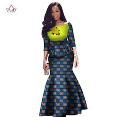 Elegant African clothes for women,Two Pieces Set Women Half Sleeve Crop Tops and Long Maxi Skirt Sets African Clothes, Mix Style, Long Maxi Skirts, African Beauty, Clothing Items, Traditional Outfits, Half Sleeves, Skirt Set, Dresses For Work