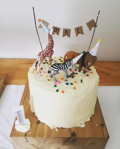 Simple kid's birthday cake