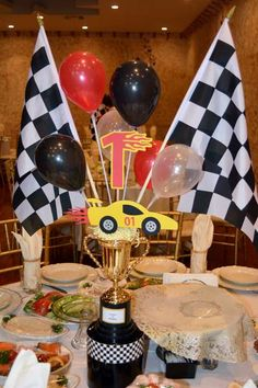 Race Car Birthday Party Ideas | Photo 1 of 15