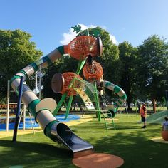 Check out the new playground at Cornwall Park in Hastings! Childcare, Cornwall, Playground, New Zealand, Fair Grounds, Park, Green, Check, Design