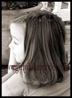 Girly Do's By Jenn: Waterfall Fishbone Braid