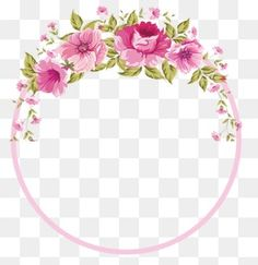 Flowers Border, Rose Border, Pink Flower Border, Pink Border PNG and PSD