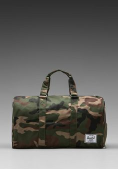 bc3af42094f Herschel Supply Co. Novel Duffle in Woodland Camo Mens Luggage, Woodland  Camo, Herschel