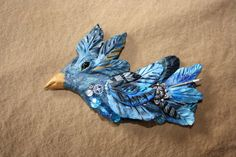 Mardi Gras steampunk blue jay by laurigriffin on Etsy, $18.00
