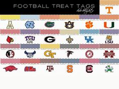 Dixie Delights: Football Treat Tags {Free Printable}