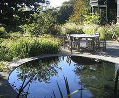 Outdoor space! Oehme, van Sweden landscape designs Pool Water Features, Water Features In The Garden, Outdoor Rooms, Outdoor Gardens, Contemporary Garden Design, European Garden, Garden Ponds, Outside Patio, Water Gardens