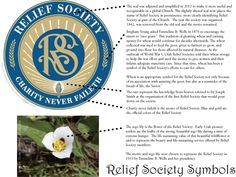 Great information about the Relief Society flower, including get details about the RS theme and seal.