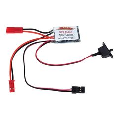 20A Brushed ESC Motor Speed Controller with Brake for 1/16 1/18 1/24 RC Car RC Truck Boat